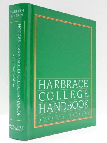 9780155001190: Harbrace College Handbook 12ED (Hodges' Harbrace Handbook with APA Update Card)
