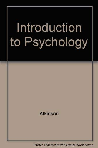 9780155002883: Introduction to Psychology