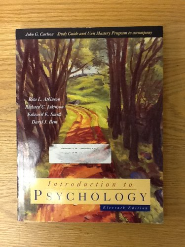 9780155002890: Introduction to Psychology: Study Guide and Unit Mastery Program to 11r.e