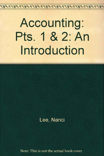 9780155004528: Accounting, an Introduction (Pts. 1 & 2)