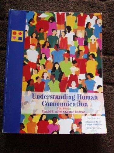 9780155007819: Understanding Human Communication