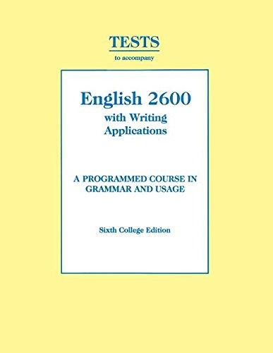 9780155008649: Tests to Accompany English 2600