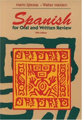 9780155010932: Spanish for Oral and Written Review
