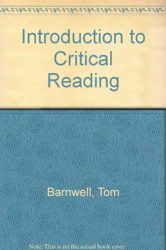 9780155011076: Introduction to Critical Reading