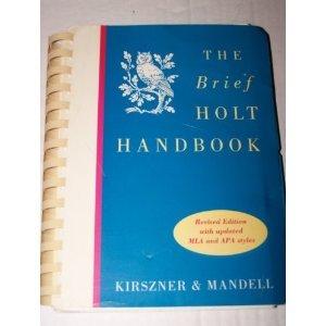 9780155011663: Brief Holt Handbook