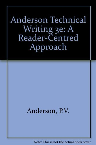 9780155011854: Anderson Technical Writing 3e: A Reader-Centred Approach