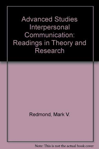 9780155012455: Interpersonal Communication Readings in Theory and Research