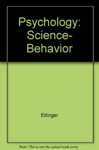 Study Guide to Accompany Psychology : Science,: Ettinger, Stephen J.