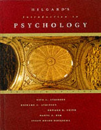 9780155015548: Hilgard's Introduction to Psychology