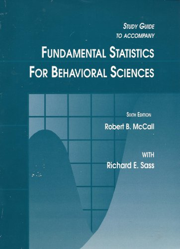 9780155017450: Fundamental Statistics for Behavioral Science, Study Guide