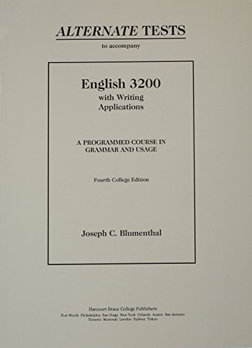 English 3200 with Writing Applications Alternate Tests: Heinle Publishers