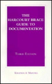 Harcourt Brace Guide to Documentation: Laurie G. Kirszner;