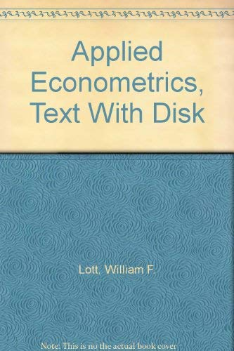 9780155029071: Applied Econometrics, Text With Disk
