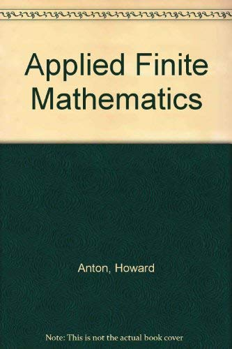 9780155029408: Applied Finite Mathematics