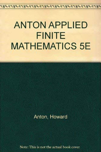 9780155029422: Applied Finite Mathematics