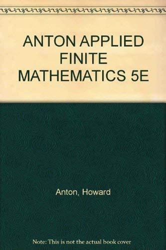 9780155029422: Applied Finite Mathematics