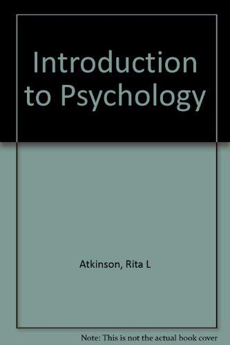 9780155030732: Introduction to Psychology