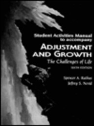 Students Activities Manual to Accompany Adjustment & Growth (9780155031265) by Spencer A. Rathus