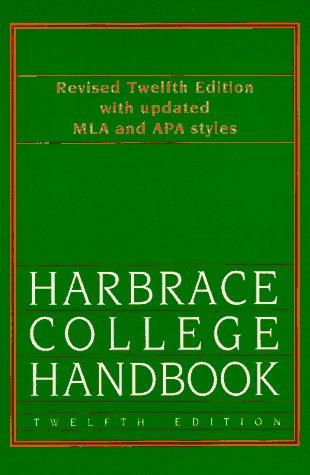 9780155033375: Hodge's Harbrace College Handbook (Hodges Harbrace Handbook)