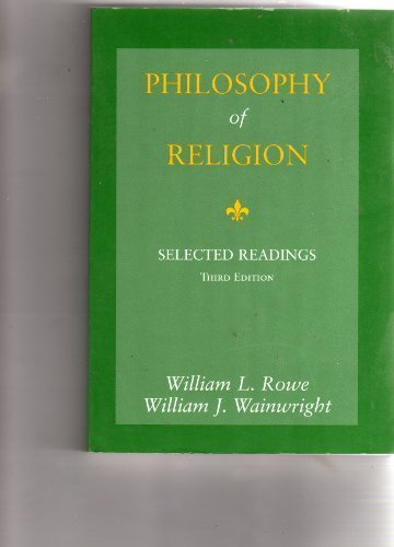 9780155036871: Philosophy of Religion: Selected Readings