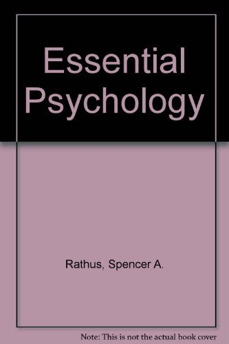 9780155037311: Essentials of Psychology