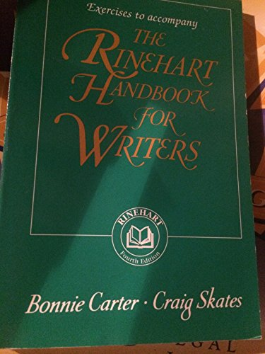 9780155038264: The Rhinehart Handbook for Writers, 4th Edition