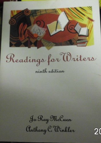 9780155038448: READINGS FOR WRITERS, 9E