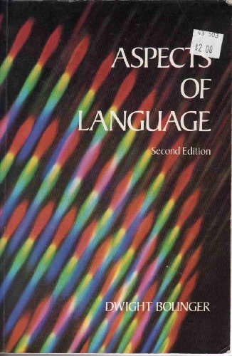 9780155038684: Aspects of Language 2e