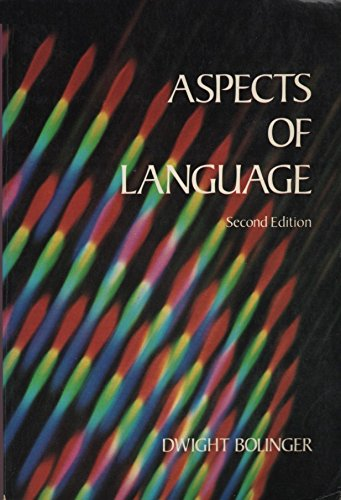 9780155038721: Aspects of Language