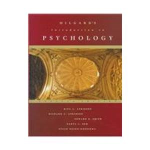 9780155039124: Hilgard's Introduction to Psychology