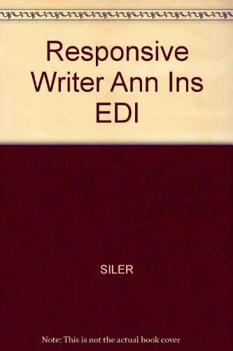 9780155040021: Responsive Writer Ann Ins EDI