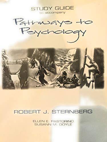 9780155040687: Pathways to Psychology