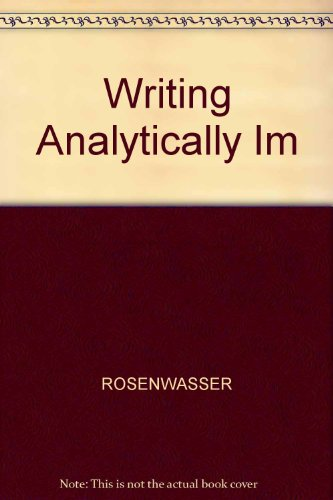 9780155042100: Writing Analytically Instructor's Manual