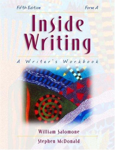 9780155042681: Inside Writing: A Writer's Workbook (Form A)
