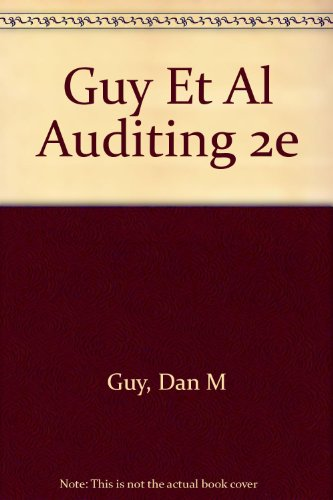 9780155042957: Guy Et Al Auditing 2e