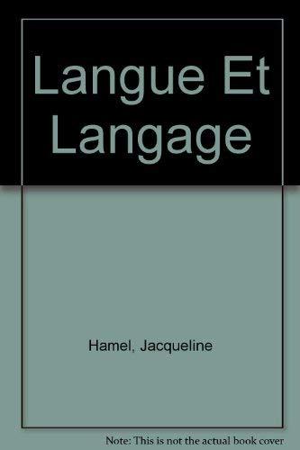 9780155043091: Langue Et Langage