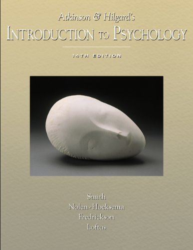 9780155050693: Atkinson and Hilgard's Introduction to Psychology (with Lecture Notes and InfoTrac)