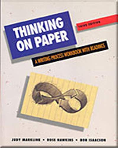 9780155052239: Thinking on Paper: A Reading-Writing Process Workbook