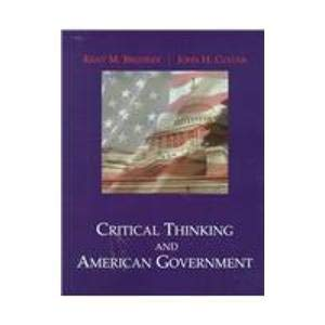 9780155053236: Critical Thinking and American Government