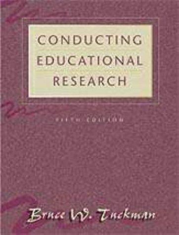9780155054776: Tuckman Conducting Educational Research 5e