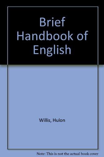 9780155055599: A brief handbook of English