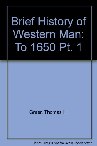9780155055773: Brief History of Western Man: To 1650 Pt. 1