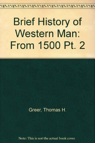 9780155055780: Brief History of Western Man: From 1500 Pt. 2