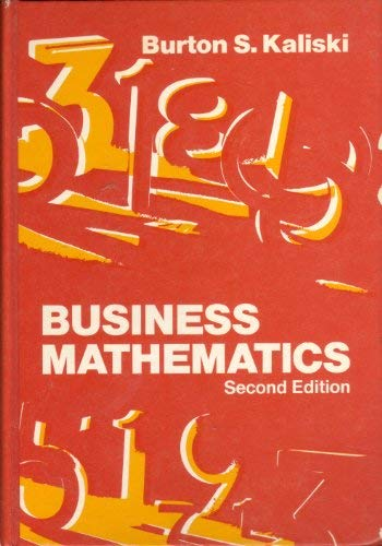 9780155056367: Business Mathematics