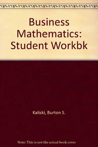9780155056381: Business Mathematics: Student Workbk