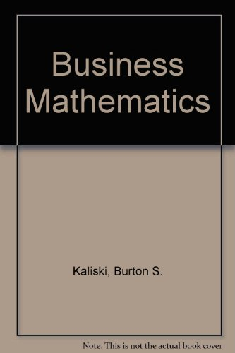 9780155056411: Business Mathematics