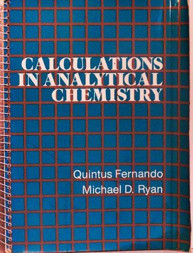 9780155057104: Calculations in Analytical Chemistry