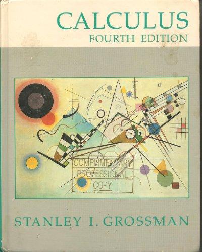 9780155057593: Grossman Calculus 4e