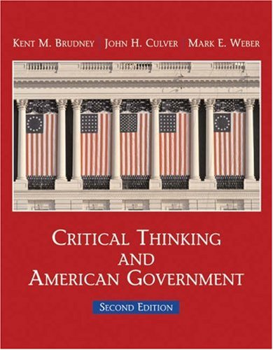 9780155058484: Critical Thinking and American Government