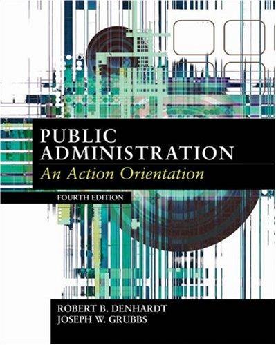 9780155058682: Public Administration: An Action Orientation